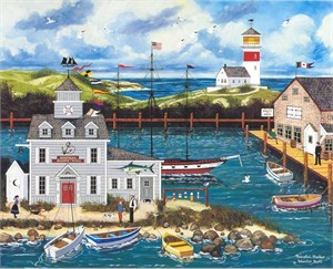 "Jane Wooster Scott Handsigned and Numbered Limited Edition Serigraph on Paper:""PEACEFUL HARBOR"""