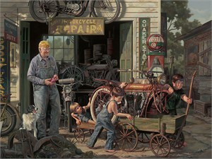 """Bob Byerley Artist Embelleshed Executive Edition Canvas Giclee:""""The Gift"""""""