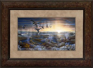 "Terry Redlin Premium Framed Open Edition Print:""Sunrise - The Farewell Collection """