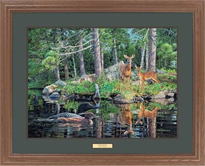 "Jim Kasper Great Northern Art Open Edition Framed Art Print:""Neighbors"""