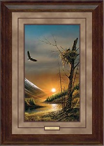 """Terry Redlin Framed Pinacle Edition Print:""""Flying Free - Bald Eagles"""""""