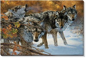 "Lee Kromschroeder Open Edition Gallery Wrap Canvas: ""Body Language – Timberwolves"""
