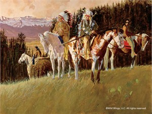 """Daryl Poulin Hand Signed and Numbered Limited Edition Print:""""The Scouting Party – Native Americans"""""""