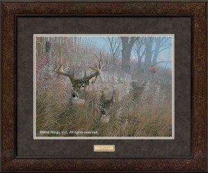 "Michael Sieve Open Edition Framed Print: ""Quiet Approach-Deer Hunter"""