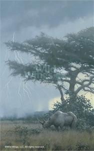 "Michael Sieve Limited Edition Premier Giclée Canvas:""Heavy Reign – Rhinoceros"""