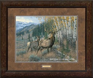 "Michael Sieve Open Edition Framed Print: ""Eastern Slope-Elk"""