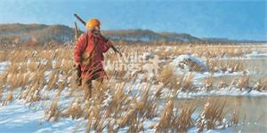 "Michael Sieve Artist Hand- signed Open Edition Print: ""River Rat – Fur Trapper"""