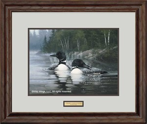 "Michael Sieve Artist-Signed Edition Print: ""Common Loons - Summer"""