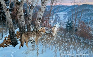 "Michael Sieve Handsigned and Numbered Limited Edition Print: ""Eastward Bound- Coyotes"""