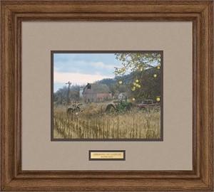 "Michael Sieve Artist Signed Framed Open Edition Print: ""Scrapeline Buck-Whitetail Deer"""