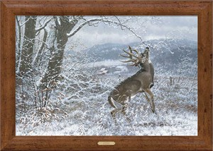 "Michael Sieve Oversize Limited Edition Canvas: ""Chip Shot-Deer Hunter"""
