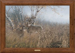 "Michael Sieve Artist Signed Framed Oversized Limited Edition Canvas: ""One for the Records-Deer"""