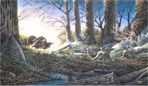 """Terry Redlin Handsigned and Numbered Limited Edition Print: """"Strutting on In """""""