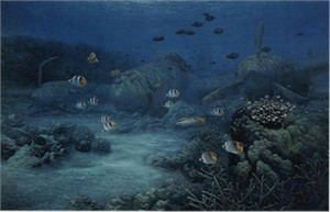 "Randall Scott Limited Edition Print: ""Shallow Water Lighting"""