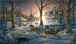 "Terry Redlin Handsigned and Numbered Limited Edition:"" Racing Home"""