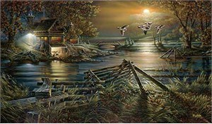 """Terry Redlin Handsigned and Numbered Limited Edition:""""The Social Hour"""""""
