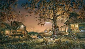 "Terry Redlin Handsigned and Numbered Limited Edition:""Twilight Time"""