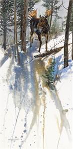 "Janene Grende Handsigned & Numbered Limited Edition Print:""Steppin' Out-Moose"""
