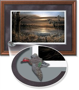 """Terry Redlin Framed Open Edition Cameo: """"Reflections Encore II"""""""