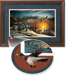 "Terry Redlin Framed Open Edition Cameo: ""Sharing Season I Encore"""