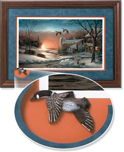 "Terry Redlin Framed Open Edition Cameo: ""Sharing Season II Encore"""