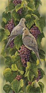 """Rosemary Millette Limited Edition Print: """" Vineyard-Mourning Doves"""""""