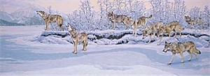 "Lee Kromschroeder Limited Edition Print: ""On the Move- Wolves"""