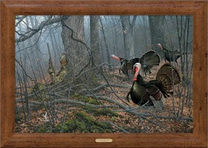 """Michael Sieve Handsigned and Numbered Limited Edition Oversized Framed Canvas:""""If Looks Could Kill-Turkeys"""""""