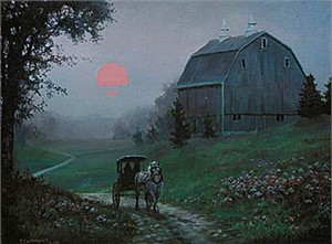"Chris Cummings Limited Edition Print:""Evening In Spring"""