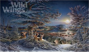 """Terry Redlin Hand Signed and Numbered Limited Edition Print:""""Evening on the Ice"""" - Only 2007 Release!"""