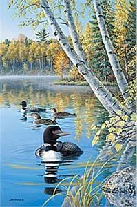 "Jim Kasper Limited Edition Print:""Season's Of The Lake-Fall """