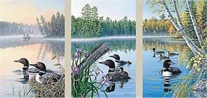 "Jim Kasper Limited Edition Print:""Season's Of The Lake-Set """
