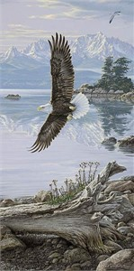 "Lee Kromschroeder Limited Edition Print:"" Dawn's Call-Soaring Eagle """
