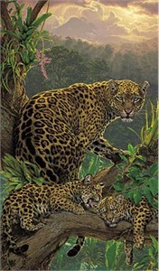 "Lee Kromschroeder Limited Edition Print:"" The Family Tree-Jaguars """