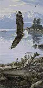 "Lee Kromschroeder Limited Edition Print: ""Dawn's Call Soaring Eagle"""