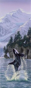 "Lee Kromschroeder Limited Edition Print:"" Vertical Rise-Orcas """