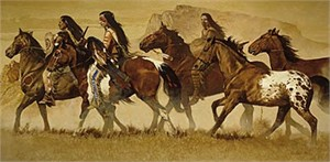 "Daryl Poulin Limited Edition Artist Proof Print:""Return of the Stolen Pony"""