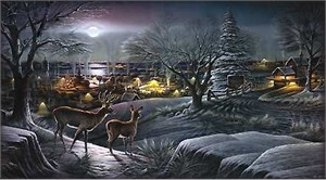 """Terry Redlin Handsigned and Numbered Limited Edition: """"Hometown"""""""
