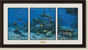 """Randall Scott Framed Limited Edition Remarqued Print:""""Silver and Gold"""""""