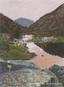 "Betsy Popp Original Oil Painting:""Mecred River Sunset-Yosemite"""