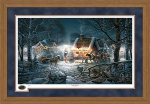 "Terry Redlin 2010 Framed (Oak)  Holiday Limited Edition Print : ""Sweet Memories"""