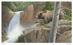 "Ron Van Gilder Hand Signed and Numbered Limited Edition Print: ""Vanage Point - Yellowstone"""