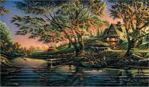 """Terry Redlin Hand Signed and Numbered Limited Edition Master Canvas:""""Close to Paradise"""""""