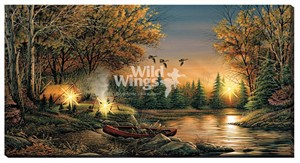 "Terry Redlin Oversize Lighted Wrapped LED Canvas:""Evening Solitude"""