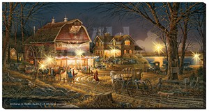 "Terry Redlin OversizeLighted Wrapped LED Canvas:""Harvest Moon Ball"""