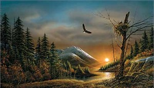 """Terry Redlin Handsigned and Numbered Limited Edition Artist Proof: """"Flying Free"""""""