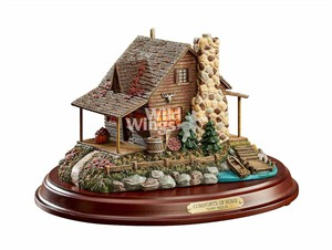 """Terry Redlin Open Edition Sculpture: """"The Comforts of Home – Cabin Sculpture"""""""