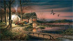"Terry Redlin Hand Signed and Numbered Limited Edition Artist Proof: ""Hunter's Haven"""