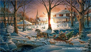 "Terry Redlin Signed and Numbered Limited Edition Master Canvas:""Racing Home"""