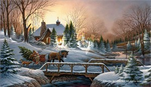 """Terry Redlin Hand Signed and Numbered Legacy Canvas Edition:""""Heading Home"""""""
